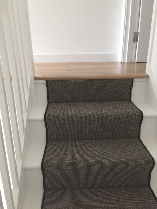 portfolio grey stair runner with black whipping 07