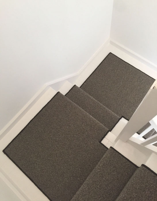 portfolio grey stair runner with black whipping 08