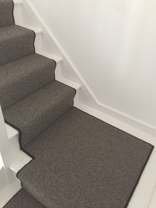 portfolio grey stair runner with black whipping 09