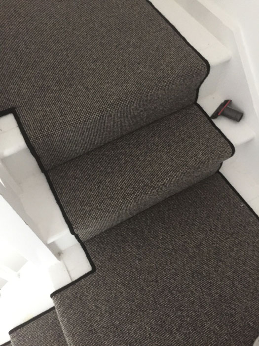 portfolio grey stair runner with black whipping 10