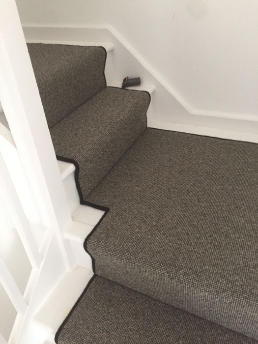 portfolio grey stair runner with black whipping 11