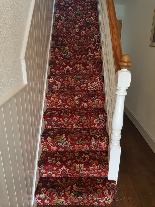 portfolio patterned red stair carpet 03