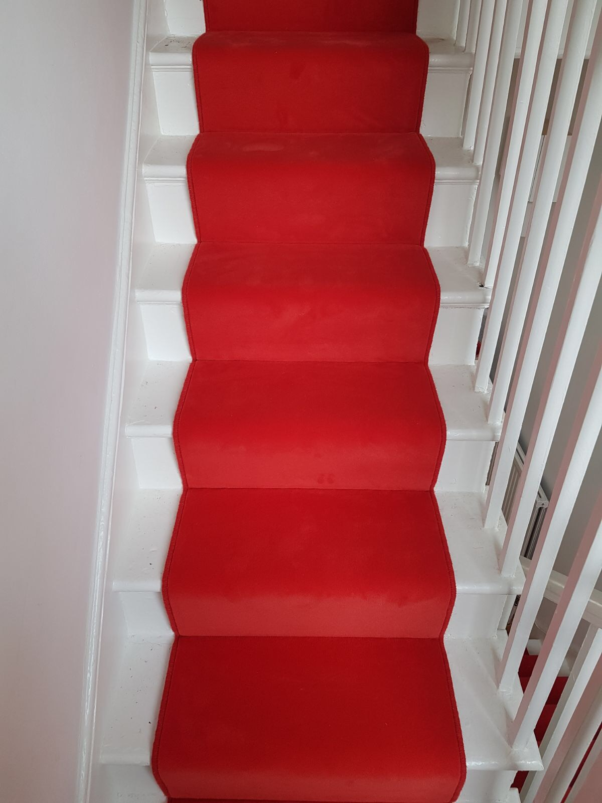 PORTFOLIO - RED STAIR RUNNER STAIRCASE CARPET (1)