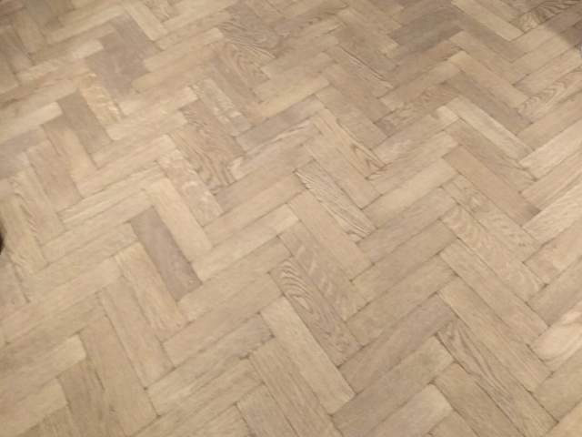 Wood Herringbone Installation In Chiswick