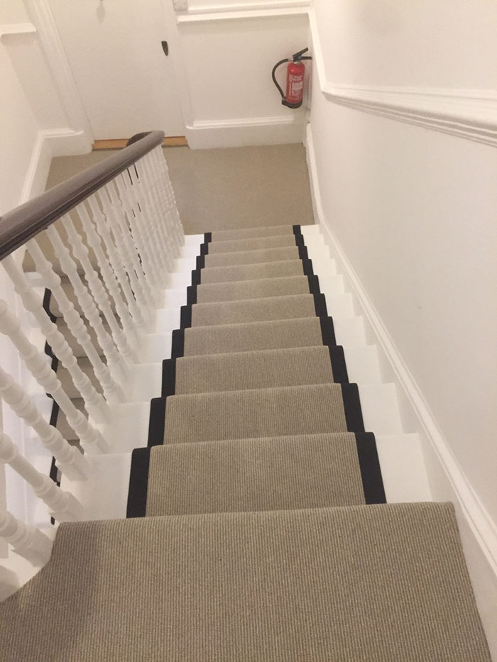 PORTFOLIO - LIGHTER CARPET ON STAIRS WITH BLACK BINDING (13)