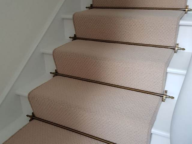 Carpet Runner And Stairrods Installation In New Malden