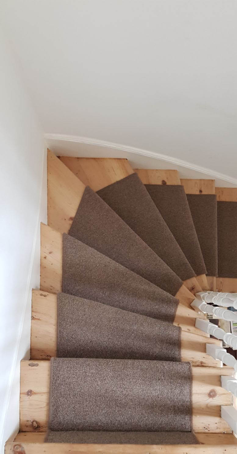 portfolio carpets BROWN CARPET RUNNER TO STAIRS (1)