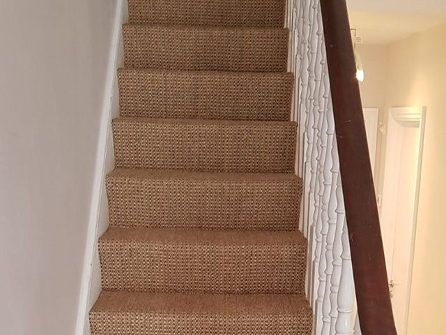 Sisal Stair Carpet Fitted In Barbican