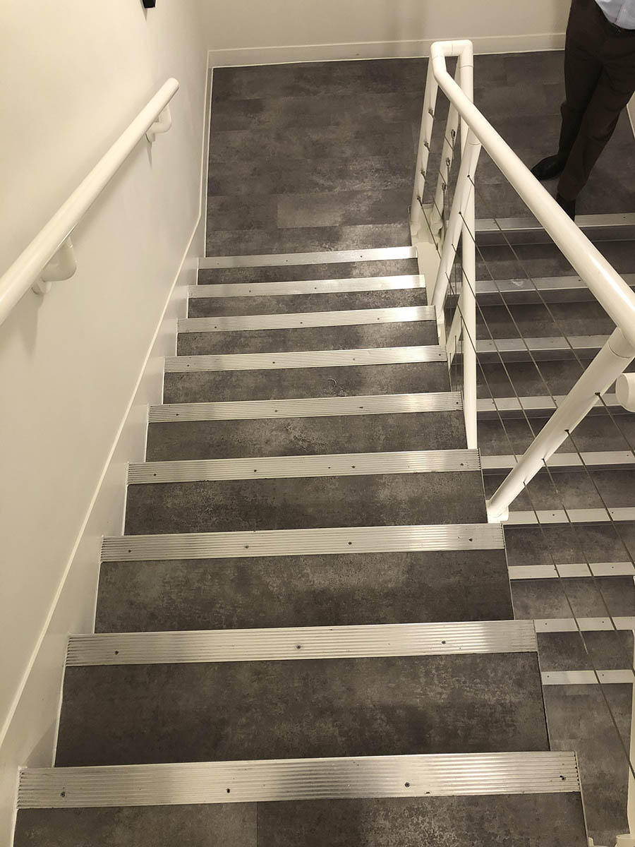 COMMERCIAL WORKS - COMMUNAL STAIRS AT OFFICES IN CAMDEN - AMTICO KURA CARAWAY (1)