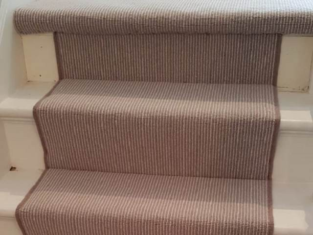 Carpet With Binding Installed In Pimlico