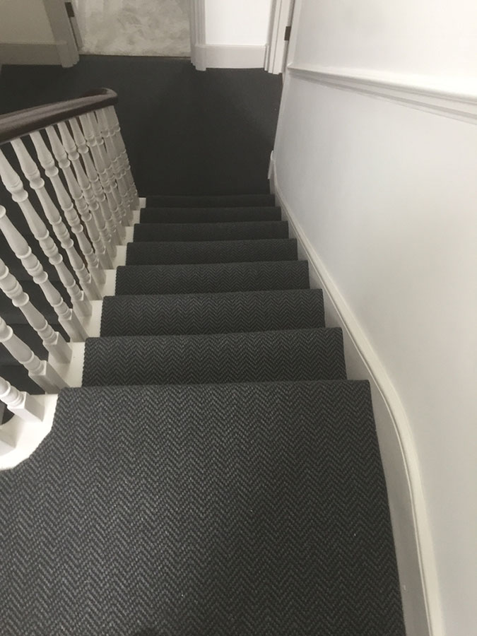 portfolio carpets grey-sisal-carpet-installation-finchley (1)