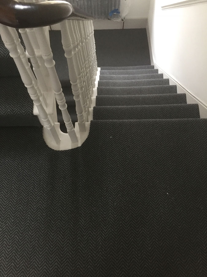 portfolio carpets grey-sisal-carpet-installation-finchley (4)