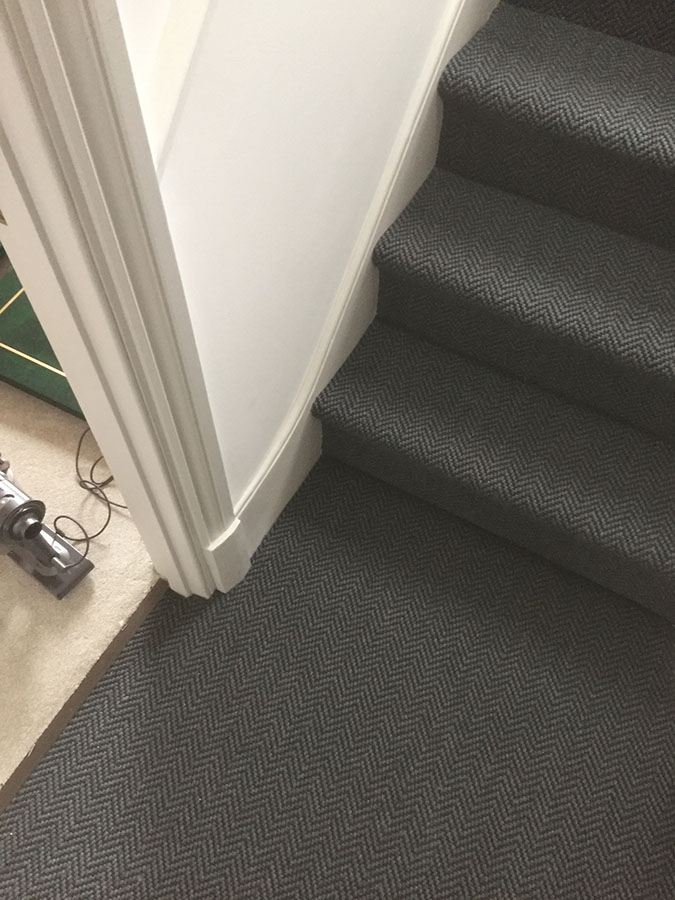 portfolio carpets grey-sisal-carpet-installation-finchley (5)