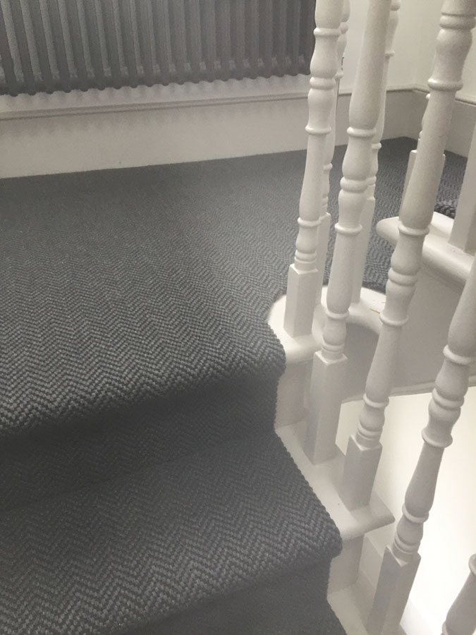 portfolio carpets grey-sisal-carpet-installation-finchley (6)