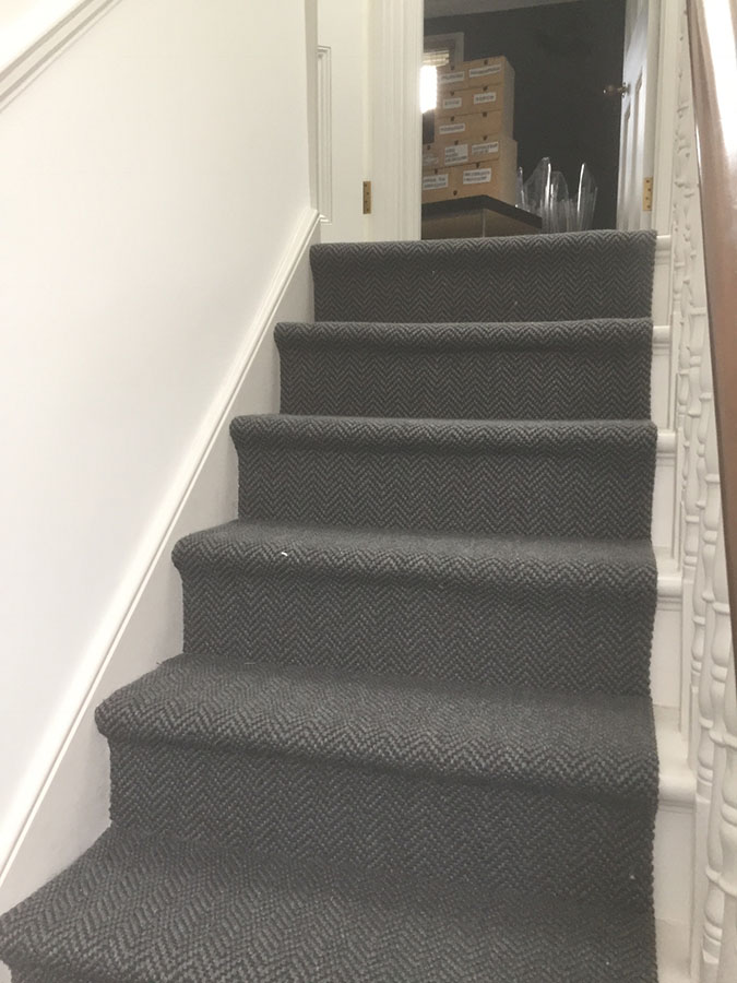 portfolio carpets grey-sisal-carpet-installation-finchley (8)