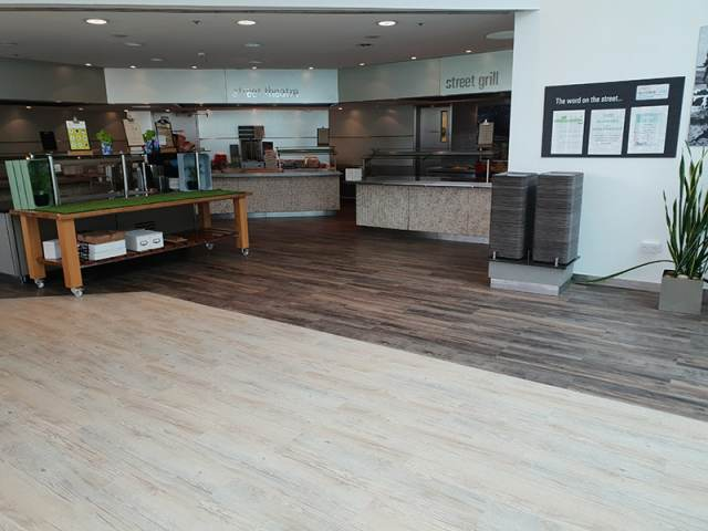Karndean Country Oak To Canteen And Restaurant Area