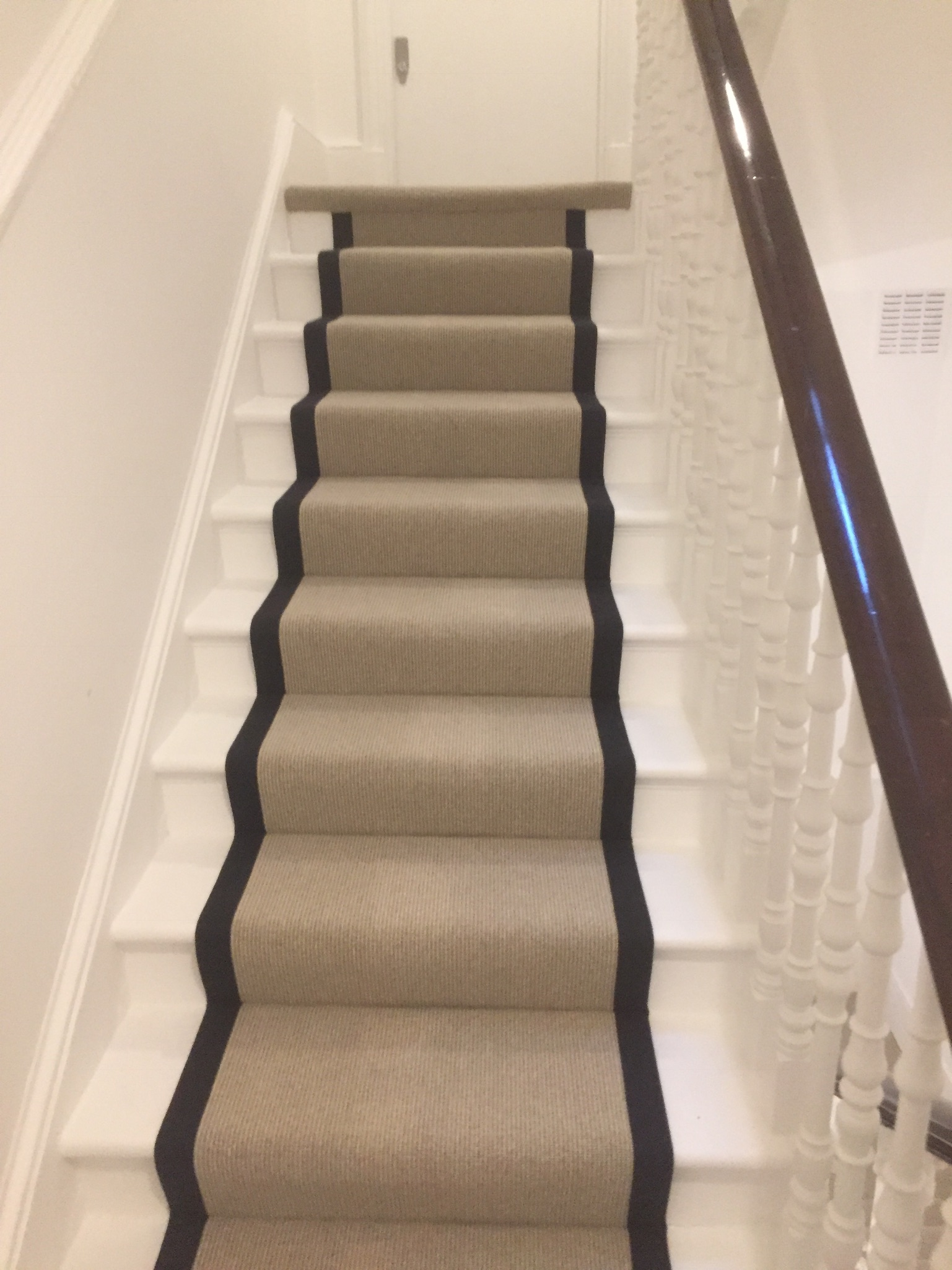 portfolio Carpet Runner With Black Binding Installed In Clerkenwell (10)