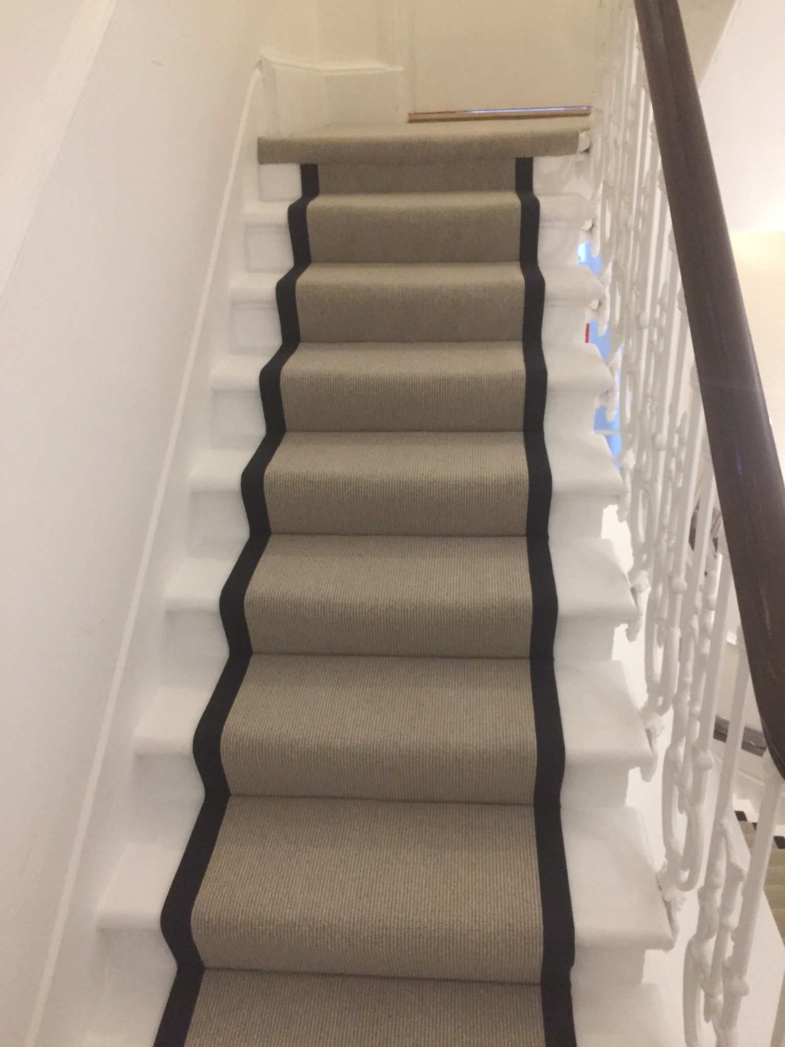 portfolio Carpet Runner With Black Binding Installed In Clerkenwell (12)