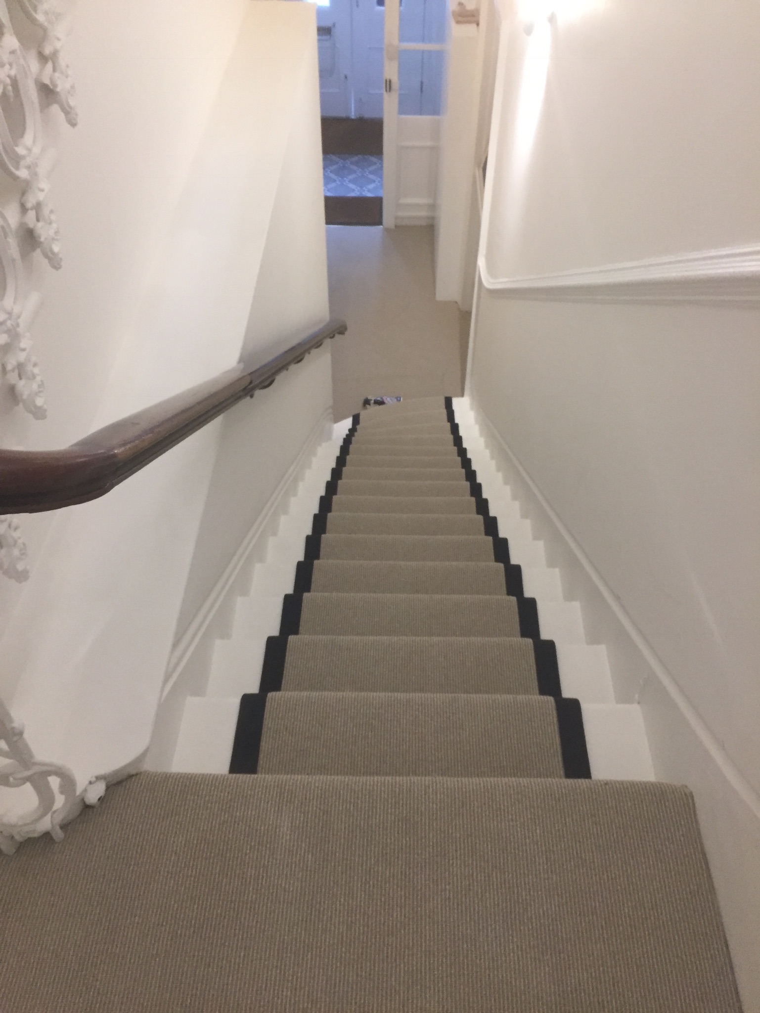 portfolio Carpet Runner With Black Binding Installed In Clerkenwell (14)