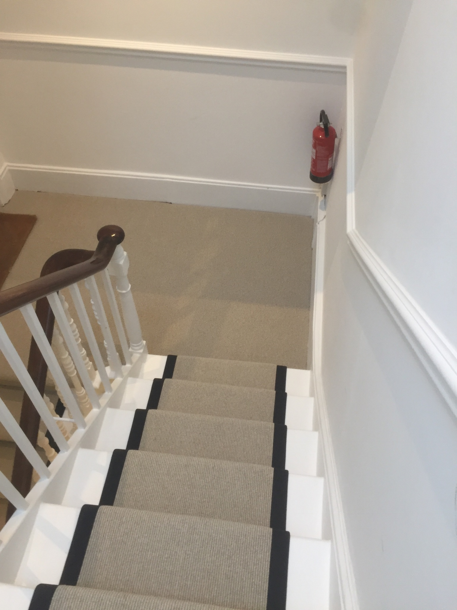 portfolio Carpet Runner With Black Binding Installed In Clerkenwell (2)