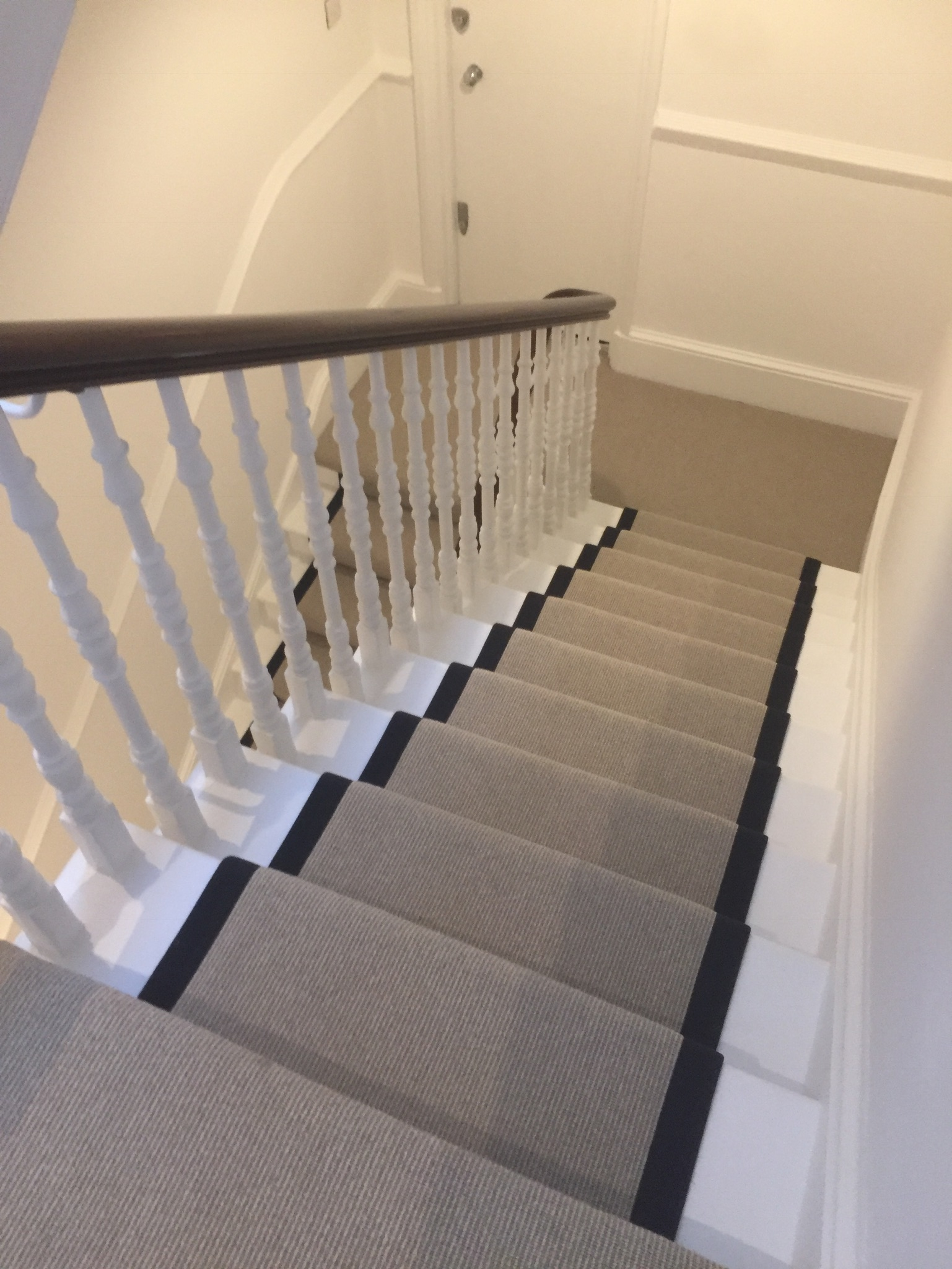 portfolio Carpet Runner With Black Binding Installed In Clerkenwell (4)