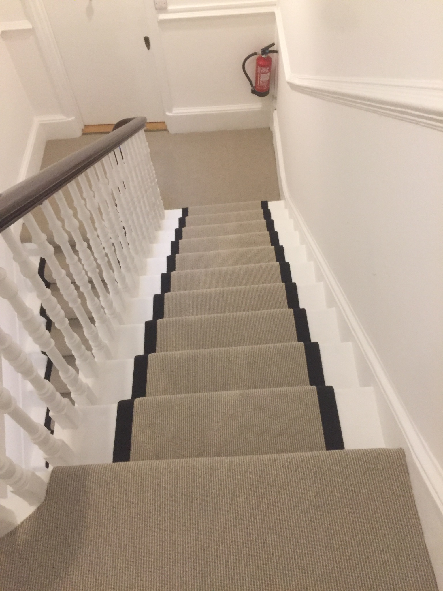 portfolio Carpet Runner With Black Binding Installed In Clerkenwell (7)