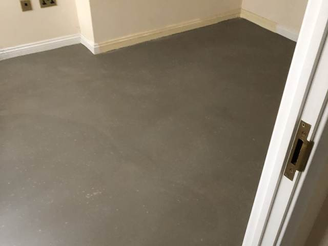 Grey Sheet Vinyl Flooring Installation in Acton