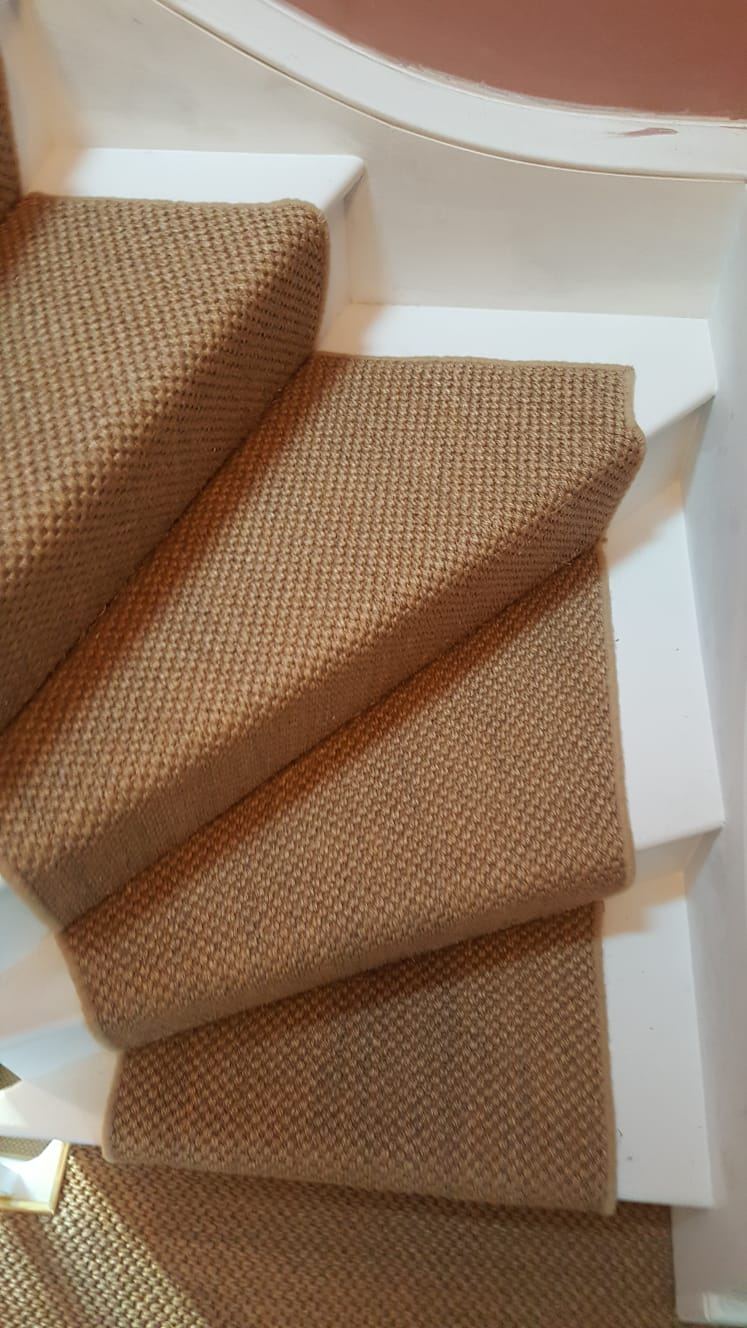 portfolio Sisal Carpet Installation To Stairs in Westminster (1)