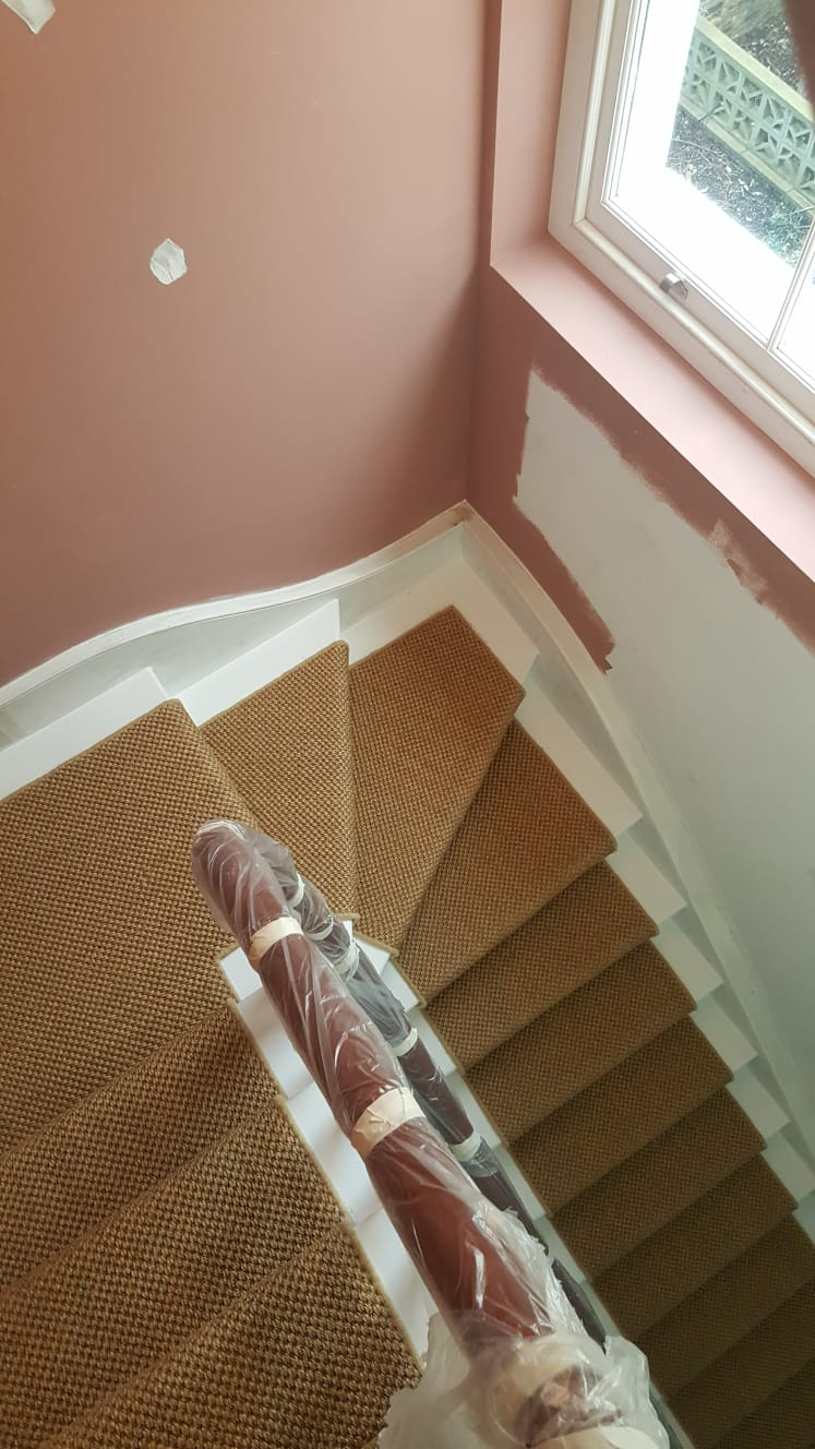 portfolio Sisal Carpet Installation To Stairs in Westminster (2)