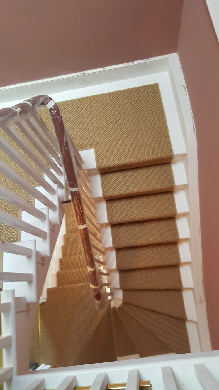 portfolio Sisal Carpet Installation To Stairs in Westminster (7)