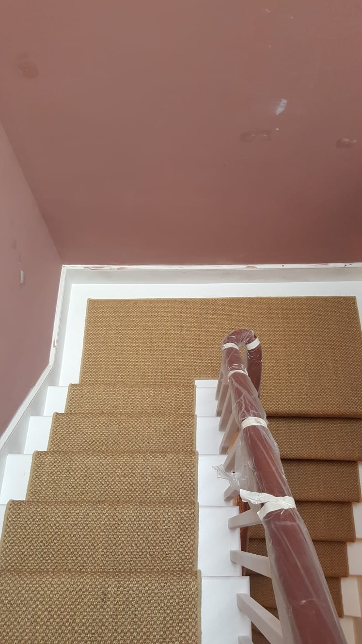 portfolio Sisal Carpet Installation To Stairs in Westminster (8)