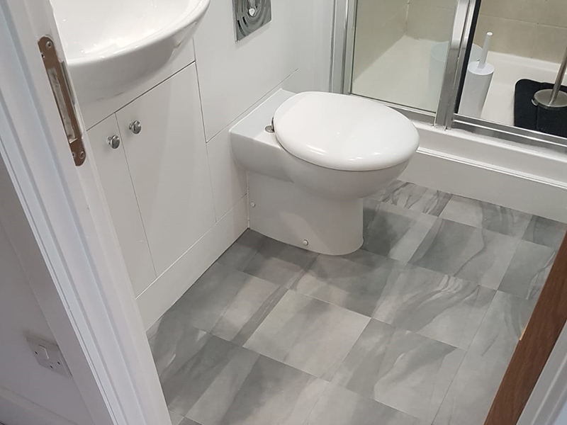 Amtico Flooring to Bathroom in Earlsfield | The Flooring Group