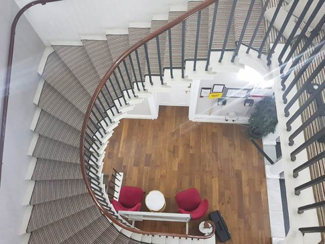 Carpet Fitted To Spiral Staircase In Kilburn