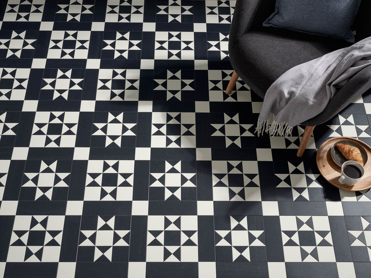 New Black And White Geometric Floors From Amtico Cor The Flooring Group
