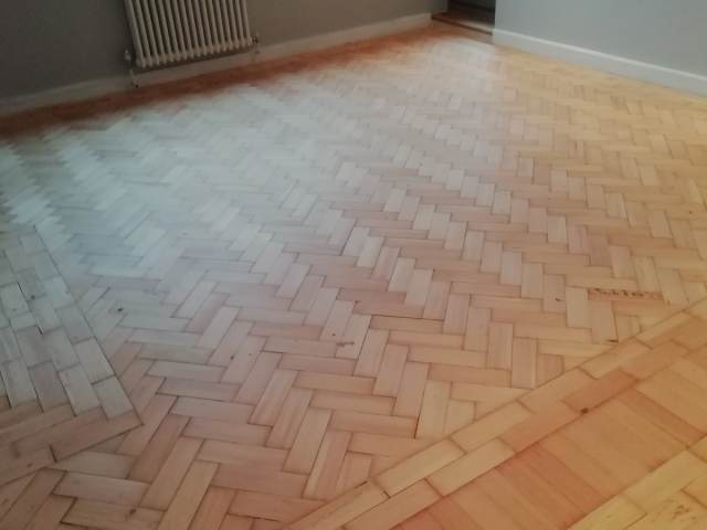Herringbone Floor Sanding In Putney
