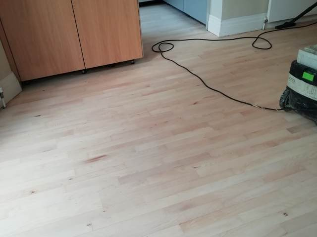 Wood Floor Sanded & Sealed In Chelsea