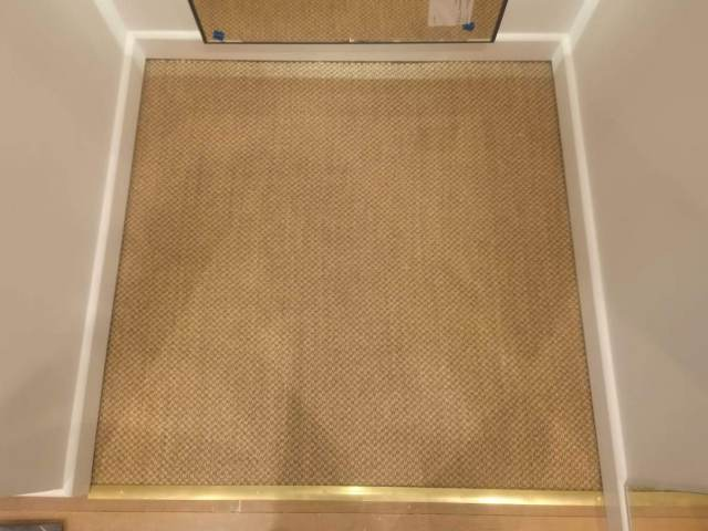 Changing Room Carpet Installation