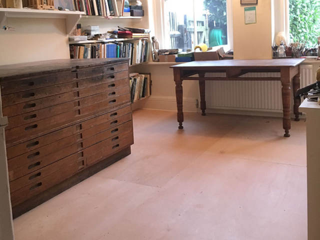 Plywood Flooring Installed In Clerkenwell