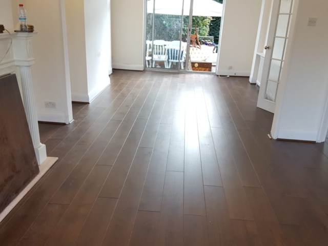 Dark Wood Floor Installed In Richmond
