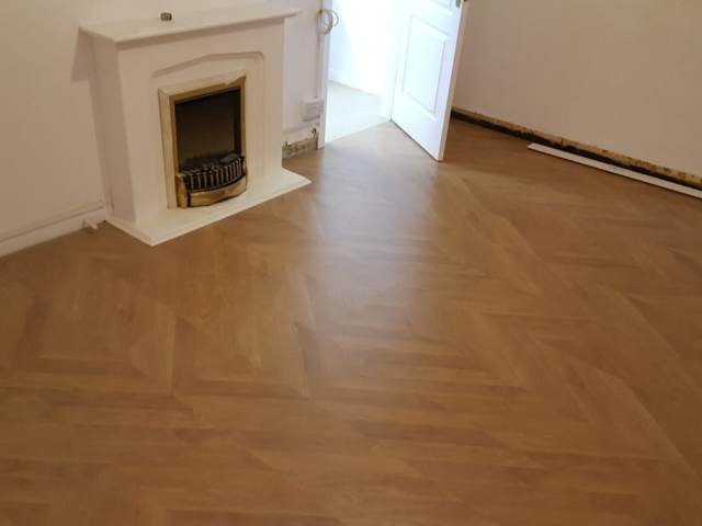 Herringbone Flooring  Installed In Mayfair