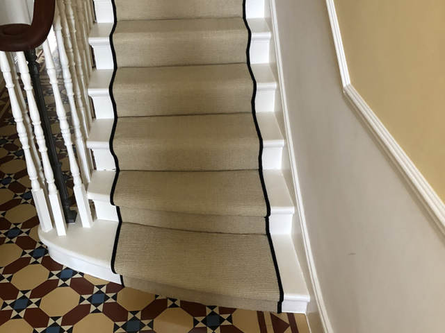 Sisal Carpet To Stairs In Hampstead
