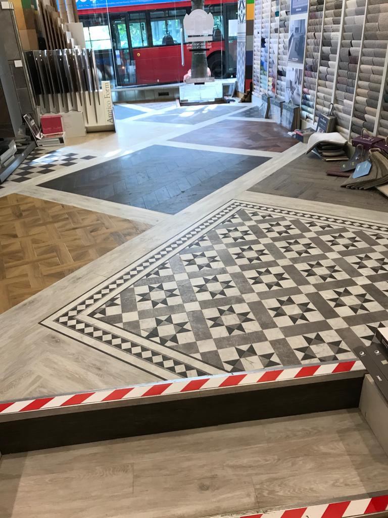 portfolio smooth floors New Amtico Vinyl Flooring in our Hampstead Showroom (7)