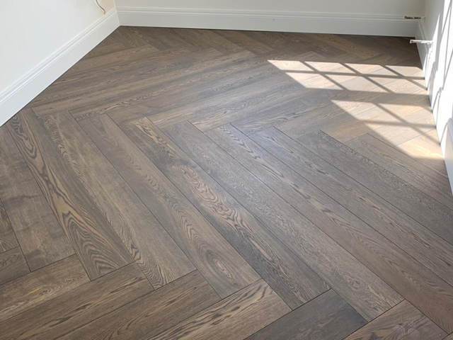 Dark Parquet Wood Installed In Fitzrovia