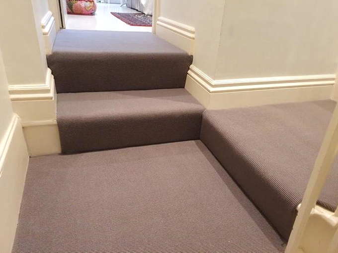 Alternative Flooring Wool Iconic Boucle Davis carpet installed in Barnes