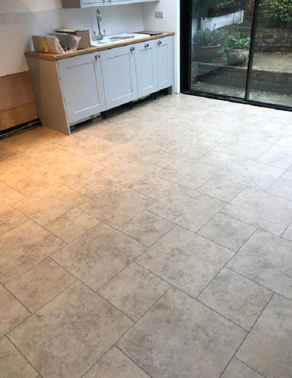 Amtico Signature Kura Caraway Vinyl Tiles Installed in Chelsea 1