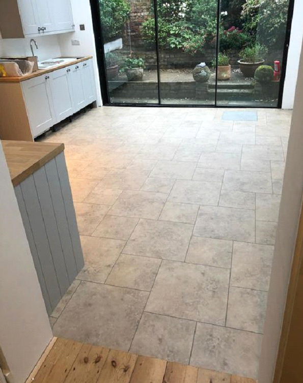 Amtico Signature Kura Caraway Vinyl Tiles Installed in Chelsea 5
