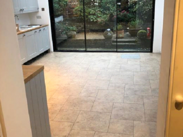 Amtico Signature Kura Caraway Vinyl Tiles Installed in Chelsea
