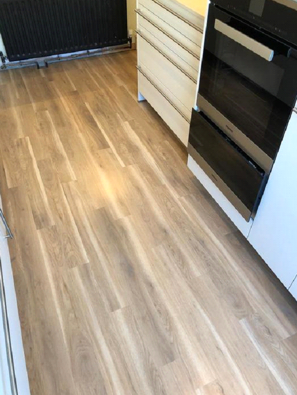 Amtico Spacia Canopy Oak Vinyl Wood Effect Flooring Installed in Barnes 2