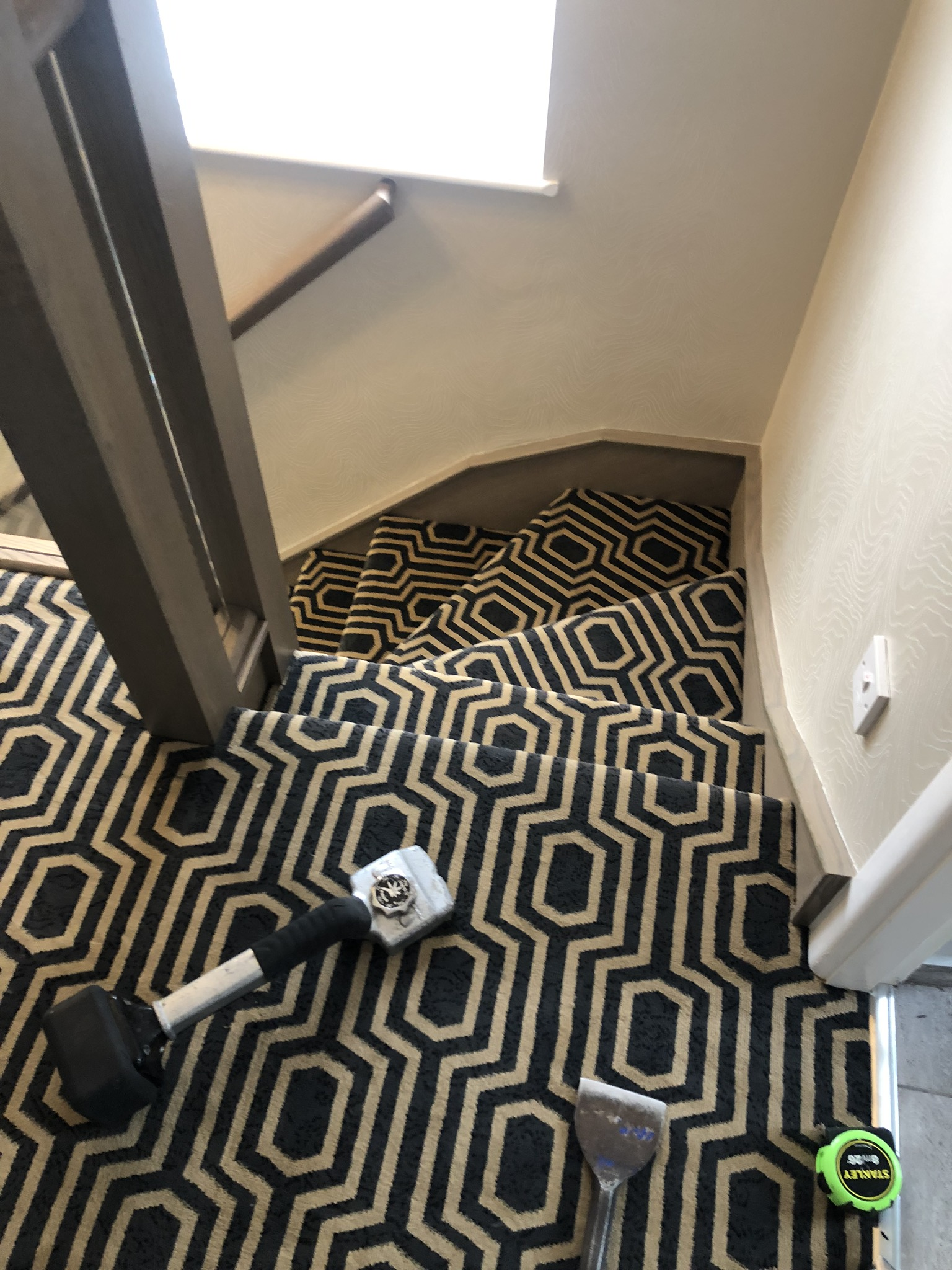 Black Axminster carpet installed in Acton 5