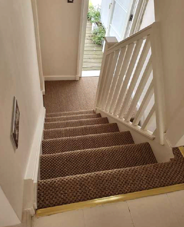 Brown sisal carpet installed in Marylebone 3
